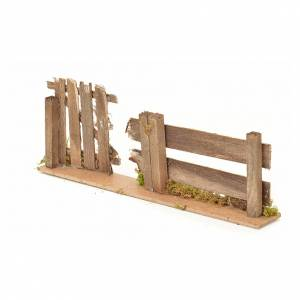 Nativity setting, fence with gate 25x3,5x8cm s3