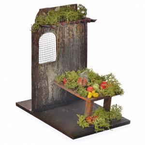 Nativity setting, fruit shop 9,5x9,5x15cm s2