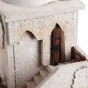 Nativity setting, minaret with dome and stairs s6