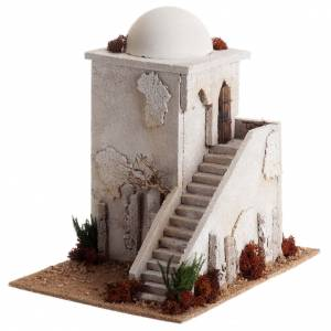 Nativity setting, minaret with dome and stairs s2