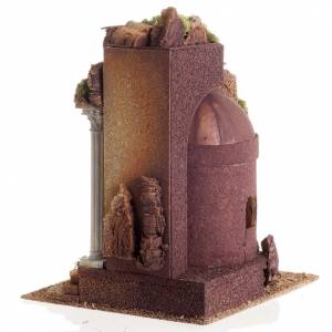 Nativity setting, Roman temple, antique style with arch s8