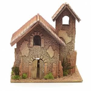 Nativity setting, rural bell tower 27x25x25cm s1