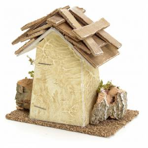 Nativity setting, rustic house with rocks 11x11x6cm s2