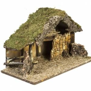 Stables and grottos: Nativity stable measuring 30x50x24cm