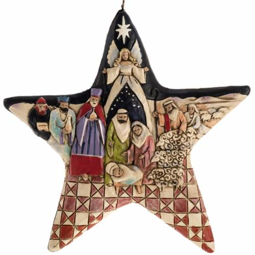 Nativity Star Hanging Ornament by Jim Shore s1