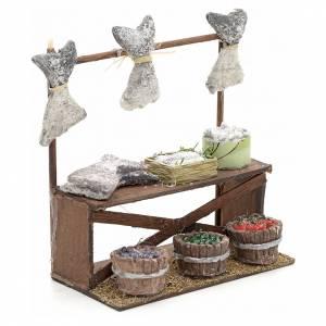 Neapolitan nativity accessory, dried salt cod stall 12cm s2
