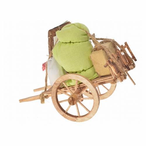 Neapolitan Nativity accessory, evicted cart 8x12x7.5cm s2