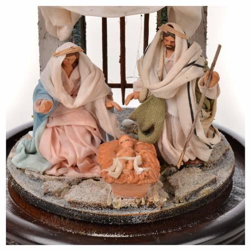 Neapolitan Nativity, Arabian style in glass dome 11x16cm s3