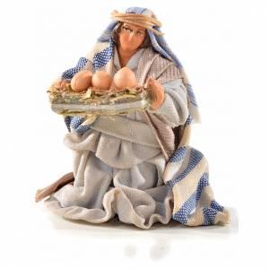 Neapolitan Nativity, Arabian style, man with eggs 6cm s1
