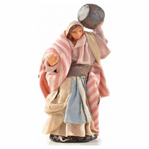 Neapolitan Nativity, Arabian style, woman carrying cask 6cm s1