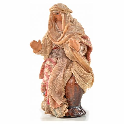Neapolitan Nativity, Arabian style, woman carrying water 6cm s1