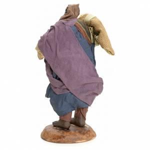 Neapolitan Nativity figurine, Arabian man with sack, 18 cm s3