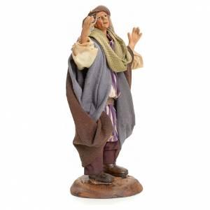 Neapolitan Nativity figurine, astonished person, 18 cm s2