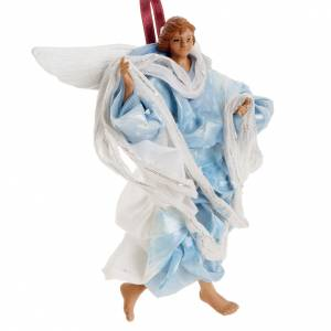 Neapolitan nativity figurine, blue angel 18cm s2