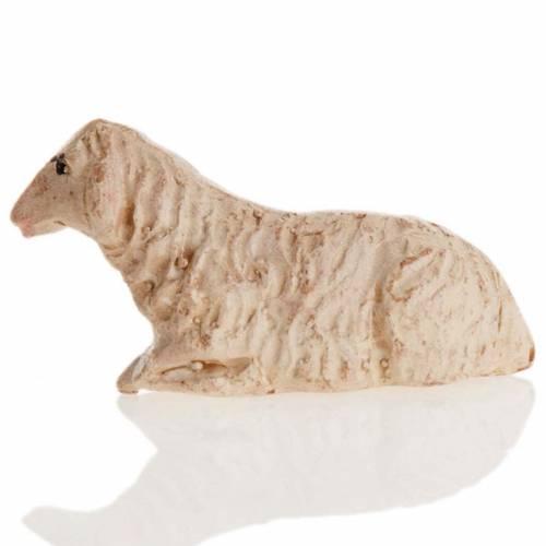 Neapolitan Nativity figurine, Laying sheep 8cm s2