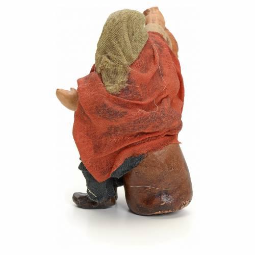 Neapolitan Nativity figurine, man with wine amphora, 8 cm s3