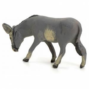 Neapolitan nativity figurine, standing donkey, 8cm s3