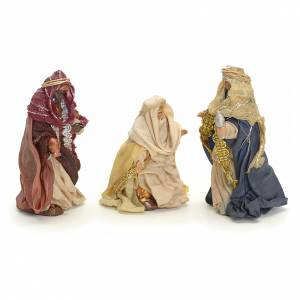 Neapolitan Nativity figurine, three Kings, 8 cm s2