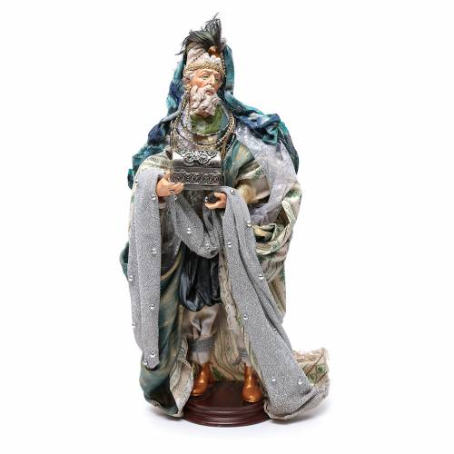 Neapolitan Nativity figurine, three wise kings, 45 cm s2