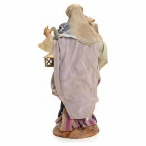 Neapolitan nativity figurine, woman with lantern 18cm s3