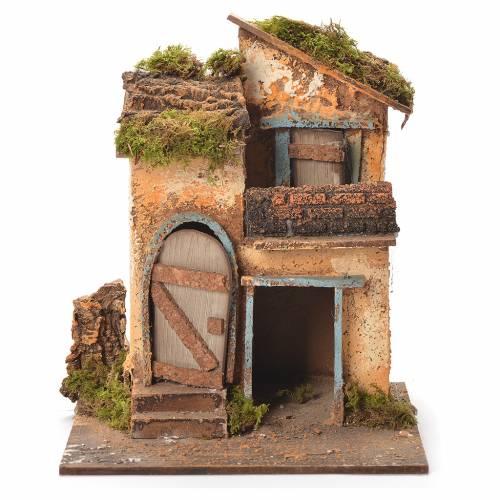 Neapolitan Nativity house 26x20x19cm s1
