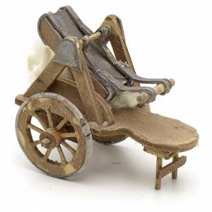 Neapolitan Nativity Scene: Neapolitan Nativity scene accessory, cart with wool carder