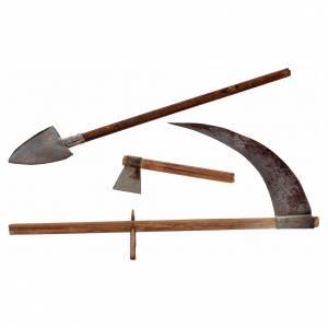 Neapolitan Nativity scene accessory, farmer tools and shovel s1