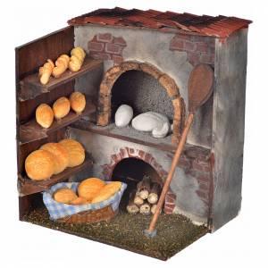 Neapolitan Nativity scene accessory, oven with bread 14x10x9cm s1