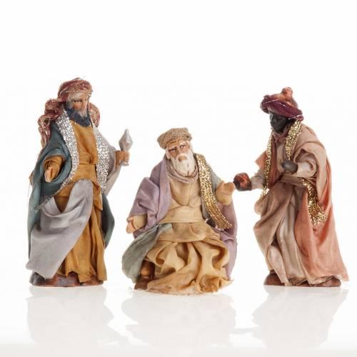Neapolitan Nativity set, Magi 8cm s1
