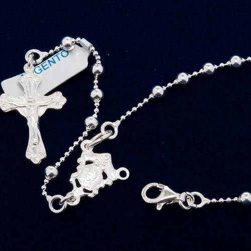 Necklace rosary, 800 silver, 3 mm beads s2