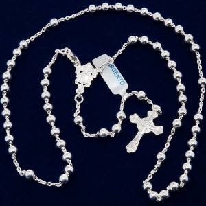 Necklace rosary, 800 silver, 4 mm beads s5