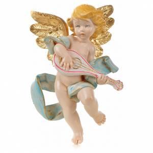 Ángeles: Ángel con mandolina Fontanini cm. 17 símil porcelana