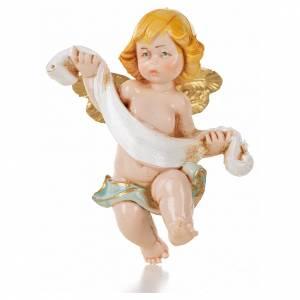 Ángeles: Ángel con paño azul Fontanini 7 cm. símil porcelana