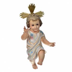 Niño Jesús bendiciente  35 cm. pasta de madera dec. Especial s1