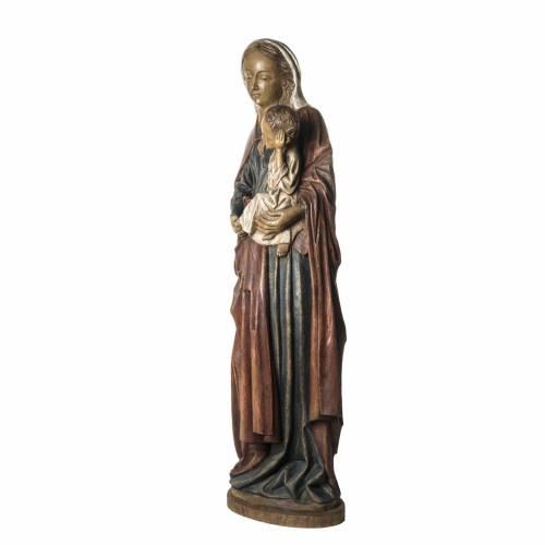 Notre Dame de Boquin statue, 145 cm in painted wood, Bethléem s3