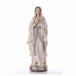 Statues en bois peint: Notre Dame de Lourdes statue peinte bois Val Gardena