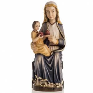 Notre Dame de Mariazell assise statue peinte bois Val Gardena s1