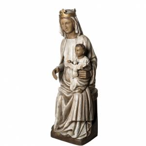 Notre Dame de Rosay 105 cm bois ancien Bethléem s3