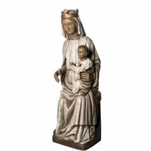 Notre Dame de Rosay statue, 105 cm in painted wood, Bethléem s3