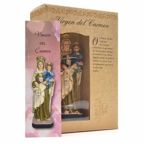 Notre Dame du Mont Carmel 12cm image et prière en Espagnol s3