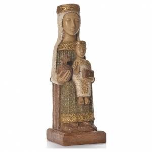 Notre-Dame du Pilar 25 cm pierre colorée vert Bethléem s4