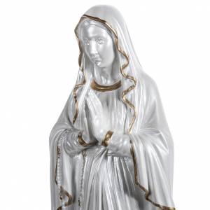 Nuestra Señora de Lourdes nacarada fibra de vidrio dorada s5