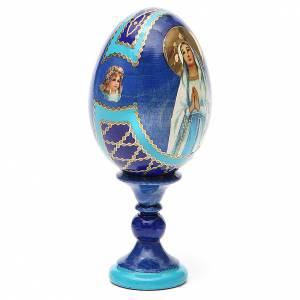 Oeuf russe découpage Notre-Dame de Lourdes h 13 cm style Fabergé s4