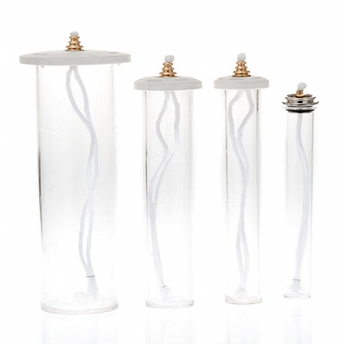 Oil Cartridge in plexiglass for plastic candle s3