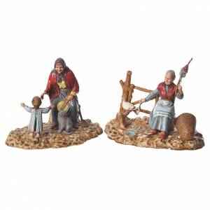 Old ladies, nativity figurines 2 pieces, 10cm Moranduzzo s1