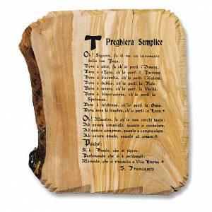 Olive wood plaque s1