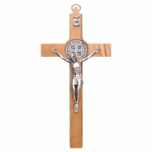 Saint Benedict crosses: Olive wood Saint Benedict cross