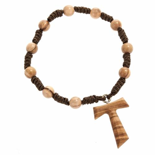 One decade olive wood beads rosary 7 mm s2