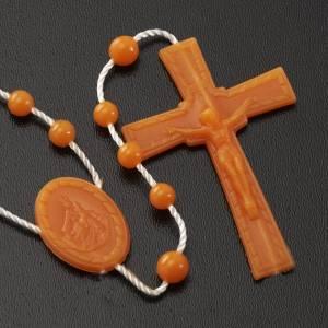 Orange nylon rosary s3