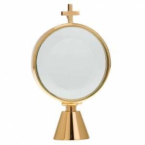 Ostensoir chapelle laiton simple  8.5 cm de diamètre s1